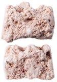 Due pezzi di pietra della caolinite (caolino, caolino) Fotografia Stock