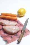 Due pezzi di raccordo del pollo Fotografia Stock Libera da Diritti