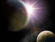 Due pianeti Immagine Stock Libera da Diritti