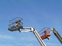 Due piattaforme dell'elevatore idraulico Fotografie Stock