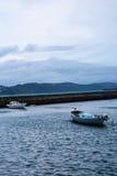 Due piccole barche in porto Fotografia Stock Libera da Diritti