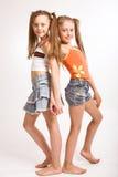 Due piccole ragazze bionde fotografie stock