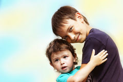 Due piccoli bambini immagini stock