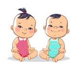Due piccoli bambini svegli Immagine Stock Libera da Diritti