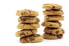 Due pile di biscotti Fotografia Stock Libera da Diritti