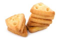 Due pile di biscotti del formaggio Immagini Stock