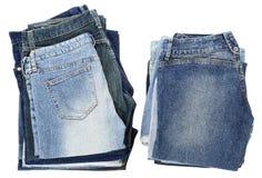Pile isolate dei jeans Immagine Stock