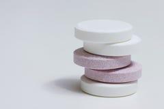 Due pillole di colori Fotografia Stock