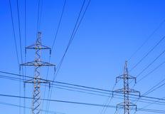 Due piloni di elettricità Fotografia Stock