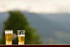 Due pinte di birra immagini stock libere da diritti