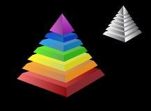 Due piramidi Fotografia Stock Libera da Diritti