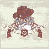 Due pistole e cappelli Immagini Stock Libere da Diritti