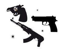 Due pistole e macchine Fotografie Stock Libere da Diritti
