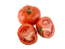 Due pomodori maturi rossi Immagine Stock Libera da Diritti