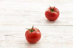 Due pomodori rossi Fotografie Stock