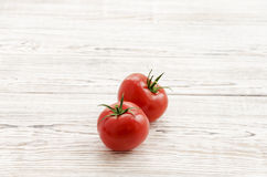 Due pomodori rossi Fotografia Stock