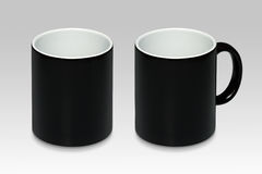 Due posizioni di una tazza nera fotografia stock libera da diritti