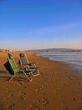 Due presidenze di spiaggia Fotografie Stock Libere da Diritti
