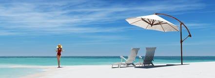 Due presidenze di spiaggia fotografia stock