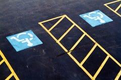 Due punti di parcheggio handicappati Immagini Stock Libere da Diritti