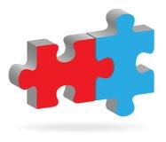Due puzzle Fotografia Stock Libera da Diritti
