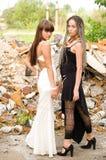 Due ragazze di modo fotografie stock