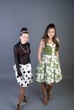 Due ragazze felici Fotografie Stock