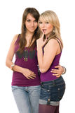 Due ragazze graziose fotografia stock libera da diritti
