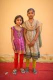 Due ragazze indiane Fotografie Stock Libere da Diritti