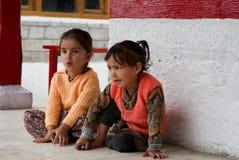 Due ragazze indiane sveglie Fotografia Stock Libera da Diritti
