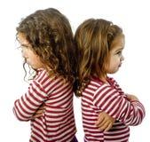 Due ragazze nel litigio Fotografia Stock Libera da Diritti