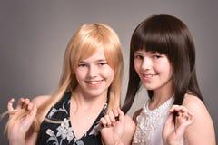 Due ragazze teenager Fotografie Stock