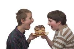 Due ragazzi fotografia stock