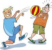 Due ragazzi che giocano sfera Fotografia Stock