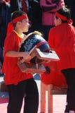 Due ragazzi in costume sui nuovi anni cinesi Immagine Stock Libera da Diritti