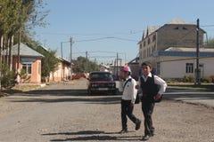 Due ragazzi di scuola Fotografie Stock Libere da Diritti