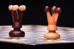 Due regine di scacchi Immagini Stock Libere da Diritti