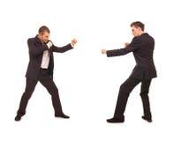 Due rivali di affari Fotografia Stock