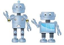 Due robot Fotografie Stock Libere da Diritti