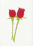 Due rose rosse royalty illustrazione gratis