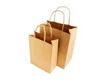 Due sacchetti di acquisto a gettare Immagine Stock