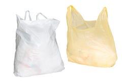 Due sacchetti di plastica fotografia stock libera da diritti
