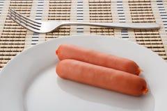 Due salsiccie Fotografia Stock Libera da Diritti
