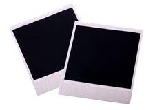 Due schede del polaroid su bianco Fotografie Stock Libere da Diritti