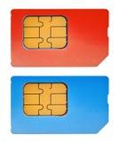 Due schede di SIM Immagine Stock Libera da Diritti