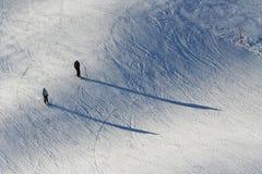 Due sciatori Fotografie Stock
