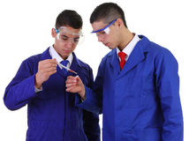 Due scienziati fotografie stock