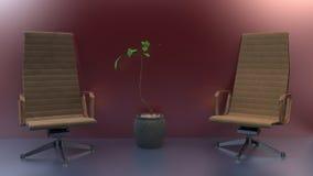 Due sedie royalty illustrazione gratis