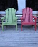 Due sedie di legno Fotografie Stock
