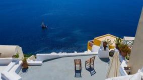 Due sedili con una vista del paradiso Fotografia Stock Libera da Diritti
